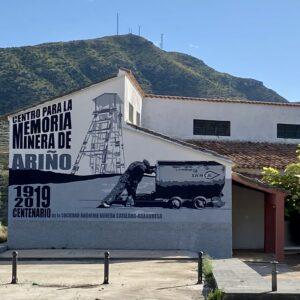 Mural para el museo minero de Ariño.