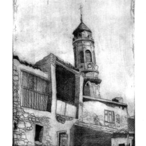 Desde la Era de Santa Bárbara.  Aguafuerte (15x20cm)