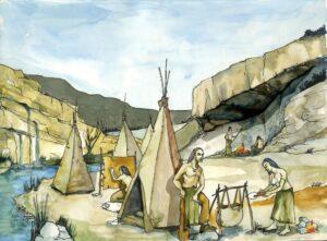"""Ilustración del libro """"los pintores de la perhistoria"""""""
