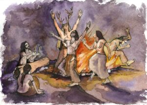 """Ilustración del libro """"los pintores de la prehistoria"""""""