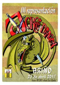 Cartel para la leyenda de Jorge y el dragón de Ariño